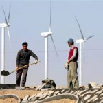 wind turbine workers in china