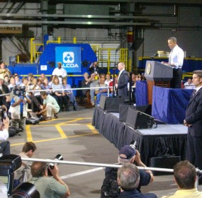 Obama speaks at Alcoa