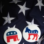 Side by Side U.S. Republican Democrat Icons