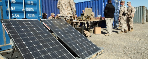 Army and Solar Panels