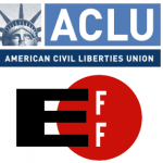 ACLU and EFF logos