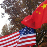 China and America Flags