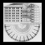 Panopticon drawing from Jeremy Bentham