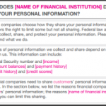 FTC's Model Privacy Form