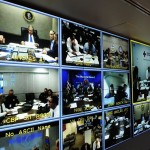 President Bush participates in VTC with FEMA Disaster Officials