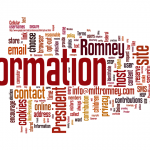 Word cloud of Romney privacy policy