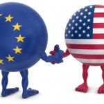 Photo of US/EU flags shaking hands